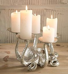 Iron Octopus Candle Holder- Silver Wind & Weather® https://smile.amazon.com/dp/B01M5G2NDJ/ref=cm_sw_r_pi_dp_x_.x5czb7YF327K