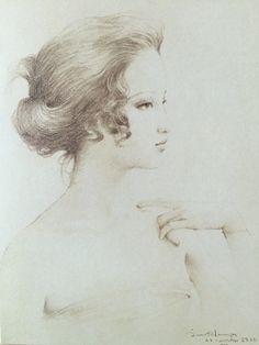 Pencil drawing, 1979, by Chakrabhand Posayakrit, a Thai national artist