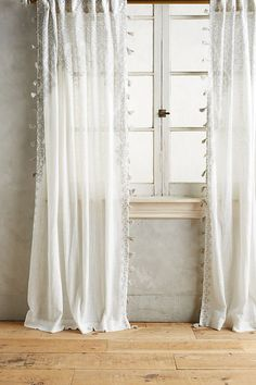 7 Ridiculous Ideas Can Change Your Life: White Curtains Bohemian cafe curtains with wreath. Boho Curtains, Curtains Living, White Curtains, Silver Curtains, Floral Curtains, Morrocan Curtains, Curtains For Bedroom, Curtain Designs For Bedroom, Western Curtains