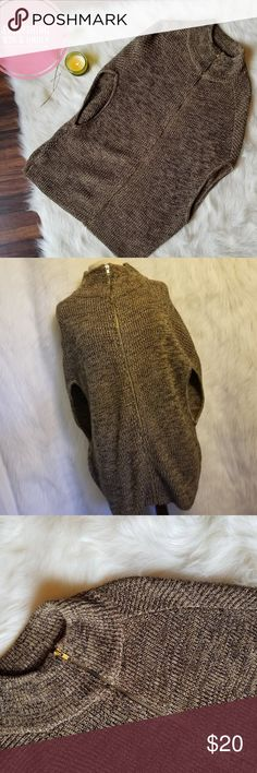 H&M Knit Cowl Neck Fuzzy Cardigan This beauty is from H&M. It is a brown knit. It zips up in the front and has a cowl neck. This Cardigan is oversized and sleeveless and would be sure cute layered with a long sleeve!!!  Condition: EUC Retail: $48 Size: Sm  MAKE A REASONABLE OFFER OR ADD TO A BUNDLE FOR A PRIVATE OFFER! H&M Sweaters Cardigans