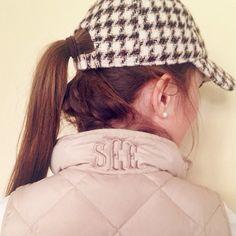 I don't always monogram everything.... Wait, yes, yes I do. (Jcrew hat and vest)