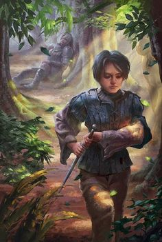 Arya and the hound. I like Arya, but still feel sad when she droped the hound. Arya And The Hound Dessin Game Of Thrones, Game Of Thrones Artwork, Hbo Game Of Thrones, House Stark, Fantasy Characters, Female Characters, Fanart, Fire Art, Rpg
