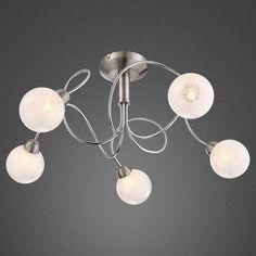 lampada sospensione lampadario moderno acciaio cromato cristallo ... - Lampada Da Cucina