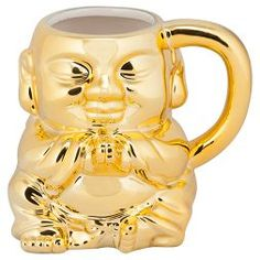 10 Strawberry Street® Ceramic Praying Buddha Mug 20oz