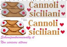 asciugapiatti cannoli siciliani schema punto croce gratis