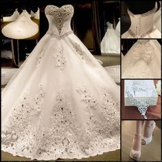 Elegant wedding dress,isn't it?  Find More: http://www.imaddictedtoyou.com