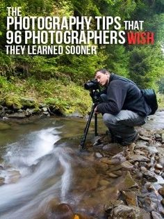 The photography tips that 96 photographers wish they learned sooner. #photography #tips #tricks Learn Photography, Photography Tips And Tricks, Photography Tutorials, Digital Photography, Photography Classes, Photography Styles, Photography Outfits, Photography Backgrounds, Photography Portraits