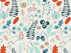 Into the woods I designed by Sterre Hendriks . Ditsy, Beautiful Artwork, Flower Prints, Woods, My Design, Projects To Try, Textiles, Plant, Fabric