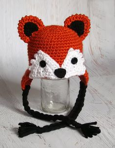 Crochet Baby Fox Hat Made to Order by TinaBoBeanies on Etsy, $24.00