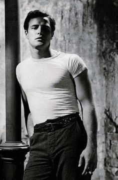 """""""Everything collided just right to make Marlon [Brando]. God and luck and will made Marlon. And those same things undid him.""""--Kim Hunter on Marlon Brando/Interview with James Marlon Brando, James Dean, Vintage Hollywood, Classic Hollywood, Don Corleone, Streetcar Named Desire, Actrices Hollywood, Ronald Reagan, Best Actor"""