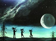 """Képtalálat a következőre: """"watercolor Moon Song.Kathy Cooney""""s Kokopelli"""" Western Saloon, Native American Flute, Native American Indians, Native Americans, Native Indian, Native Art, Watercolor Moon, Southwestern Art, American Spirit"""