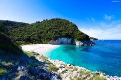 Rovinia beach, Liapades, Corfu - Rovinia beach, Liapades, Corfu