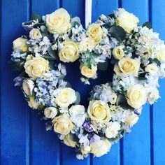 Wedding heart on church door . Hydrangea, Wedding Flowers, Floral Wreath, Wreaths, Heart, Home Decor, Homemade Home Decor, Flower Crowns, Door Wreaths