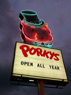 Porkys Drive-in sign St Paul, MN   via flickr