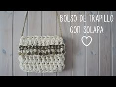 BOLSO TRAPILLO CON FLECOS /T-SHIRT YARN BAG WITH TASSELS - YouTube