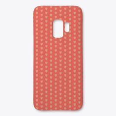 Tiny Hearts Samsung Phone Case in Coral