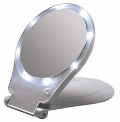 Floxite LED Lighted Travel and Home Magnifying Mirror Led Makeup Mirror, Makeup Mirror With Lights, Magnifying Mirror, Travel Light, Mirrors, March, Dorm, Products, Dormitory