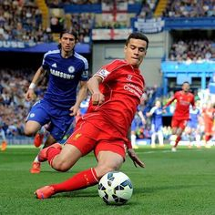 @phil.coutinho working hard at Stamford Bridge #LFC