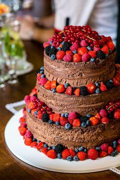 Výsledek obrázku pro nahý čokoládový dort