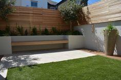 Backyard Plan, Backyard Pool Designs, Small Backyard Design, Small Backyard Landscaping, Back Garden Design, Modern Garden Design, Corner Garden Seating, Small Garden Landscape, Decoration