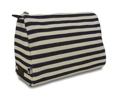 Sloane Ranger denim stripe cosmetic pouch *** Additional details at the pin image, click it  : Travel cosmetic bag