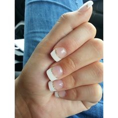 Gold glitter french tip! Nails ❤ liked on Polyvore featuring beauty products, nail care, nail treatments, nails et makeup