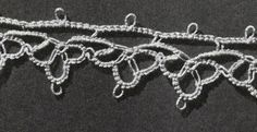 Tatted Edging CT-233 pattern from Fine Crochet and Tatting, originally published by Coats & Clark, Book 259, in 1949.