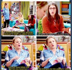 The Big Bang theory Big Bang Theory Funny, Big Bang Theory Quotes, The Big Bang Therory, Tbbt, Tv Quotes, Funny Quotes, How I Met Your Mother, Cinema, Little Dresses
