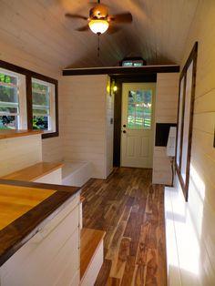 A tiny house on wheels in North Carolina, built by Brevard Tiny House Company.