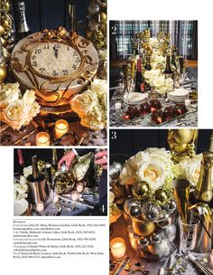 "At Home in Arkansas | December 2014 ""Stroke of Genius"" Art Nouveau clock cake, perfect for your New Year's Eve party!"