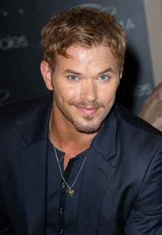 Kellan Lutz. The dimples make me weak, and nice eyes too!