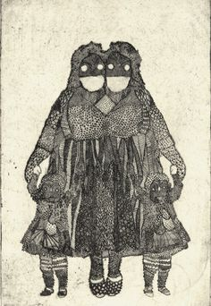 Fatmomma. Etching by Emma Repp