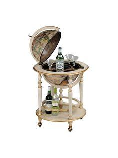 Globe Drinks Cabinet Ivory