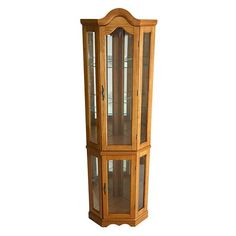 Lighted Corner Curio Cabinet (brown)