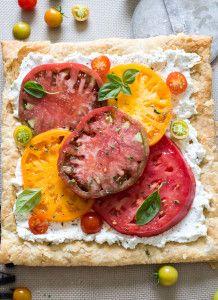 Heirloom Tomato Ricotta Tart