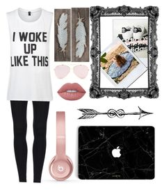 """""""Lazy Saturday morning"""" by lydiaann05 ❤ liked on Polyvore featuring Private Party, Beats by Dr. Dre, Creative Co-op and Lime Crime"""