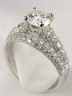 Antique Style Diamond Bridal Rings Set Bridal Ring Sets Vintage Wedding Ring Sets Antique
