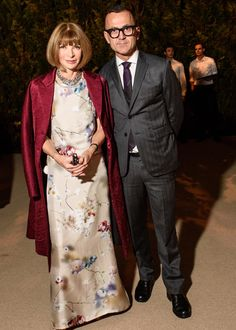 Anna Wintour in Calvin Klein Collection and Steven Kolb