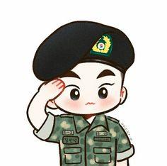 Kyungsoo, Baekhyun Fanart, Kpop Fanart, Kaisoo, Chanyeol, Exo Cartoon, Cartoon Drawings, Bts Chibi, Anime Chibi