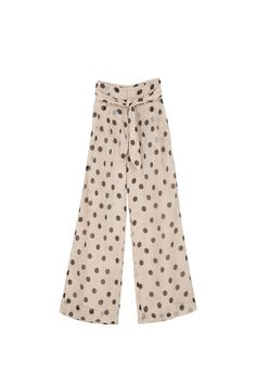 Lined for comfort, these airy chiffon Nevada pants are designed with polka dot motif that isn't at all overpowering. The belted, high-rise waist and wide legs create such a flattering silhouette. Wide Legs, Wide Leg Pants, Black Dots, Nevada, Polka Dots, Chiffon, Pajama Pants, Silhouette, Create