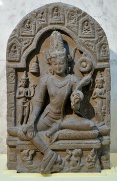 Bodhisattva_inside_a_Cave_-_Basalt_-_Pala_Period_Circa_10th-11th_Century_AD_-_Bihar_-_National_Museum_-_New_Delhi_-_Indian_Buddhist_Art_-_Ex... File:Bodhisattva inside a Cave - Basalt - Pala Period Circa 10th-11th Century AD - Bihar - National Museum - New Delhi - Indian Buddhist Art - Exhibition - Indian Museum - Kolkata 2012-12-21 2352.JPG