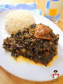 """Today I made Efo Riro which is one of my favorite vegetable soups. """"Efo riro"""" is a Yoruba word which simply means """"Vegetable soup"""" and i. Nigeria Food, Ghana Food, West African Food, Cooking Recipes, Healthy Recipes, Meal Recipes, Jamaican Recipes, Caribbean Recipes, Food Website"""