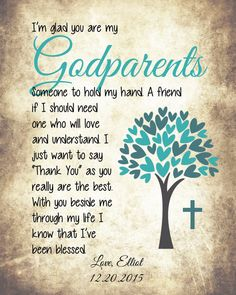 Baptism Thank You Gift God Parent Thank You by VintageLeeCrafted