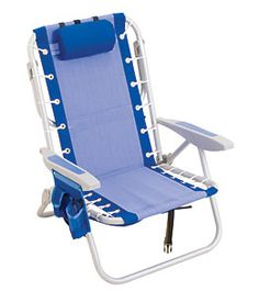 Rio Brands Aluminum Backpack Chair W/ Cooler Pouch at SwimOutlet.com - Free Shipping