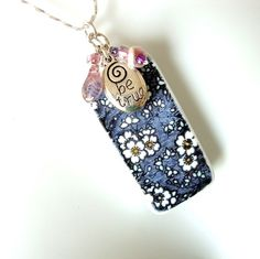 Floral Domino Pendant Be True. Starting at $3 on Tophatter.com!