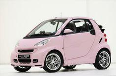 #smart #smartcar #smartcars  #fortwo #pink #pinkcar #openyourmind #greencar #mercedesbenzdurham