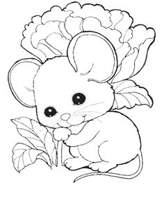 Cute Mouse Coloring Pages Free