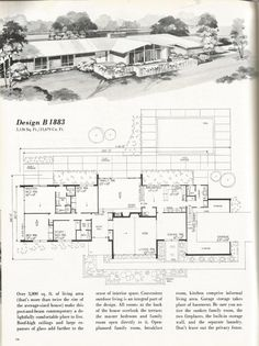 Vintage House Plans 1960s homes mid century homes so much charm