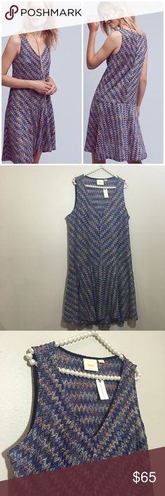Anthropologie Maeve Drop Waist Chevron Dress So cute and perfect dressed up or down! Brand new with tags. Size XL. No trades!! 011117120 Anthropologie Dresses