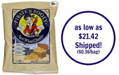Pirate's Booty Aged White Cheddar as low as $0.36 a Bag SHIPPED!